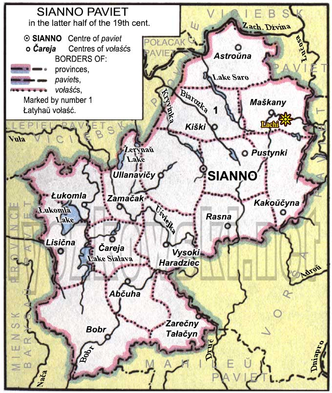 Sianno district map
