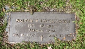 The grave of Walter P. Lyczkowski